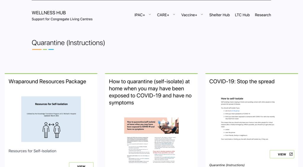 Quarantine instructions